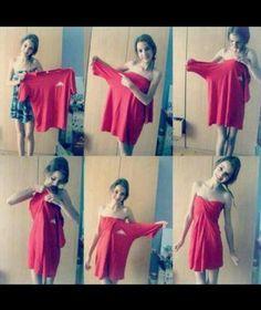 vestido de una remera