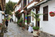 Calle en Ràquira - Boyacà, Colombia