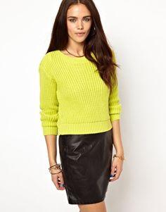 Glamorous Rib Knit Sweater - ASOS