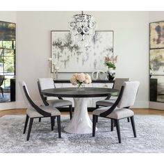 Modern Dining Room Table Decor - Modern Dining Room Table Decor, dining room decor ideas inspirations to help you to decor your Round Dining Room Sets, Dining Room Table Decor, Modern Dining Room Tables, Elegant Dining Room, Beautiful Dining Rooms, Dining Room Design, Dining Room Furniture, Living Room Chairs, Dining Area