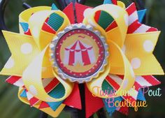 Circus  Hair Bow Mini size