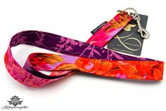 Schlüsselbänder von #Lieblingsmanufaktur: Schlüsselband pink orange