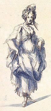 Femme debout de face, 1610, Jacques de Bellange
