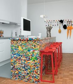 If we just keep collecting all of the Legos the kids leave on the floor, we could eventually build this.  ;)