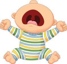 Cartoon baby boy crying - Illustration vectorielle