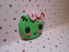 CUTE LITTLE ZOMBIE CHARM Diy Clay, Cute Characters, Clay Ideas, Charms, Clay