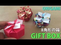 折り紙1枚のギフトボックス♪スライド式!?Giftbox Present 【origami tutorial】(#82) - YouTube