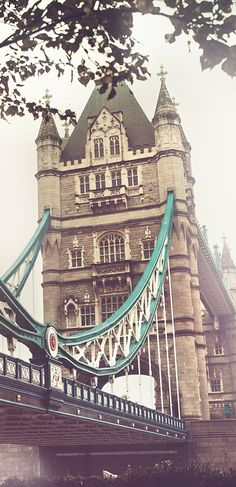 A view of London's Tower Bridge - inspiration for the Burberry Menswear Autumn/Winter 2014 collection