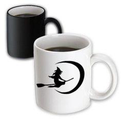 3dRose Wicked Witch on a Broom, Magic Transforming Mug, 11oz