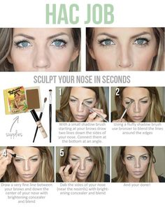 Best Beauty Hacks Ever Created - Nose Sculpting - Tips And Tricks For Skin Care, Make Up, Style, And Products Every Girl Should Try At Least Once In Life. Easy, Cute, Step By Step Tutorials - http://thegoddess.com/best-beauty-hacks-ever