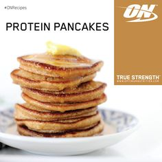 #ONRecipes Protein Pancakes  Ingredients: 100g Plain Wheat Flour, 250ml Milk, 1 Egg, 1 serving Double Rich Chocolate 100% Whey Gold Standard.  Directions: Take flour in mixing bowl, add egg & milk gradually along with Optimum Nutrition 100% whey Double Rich Chocolate to the consistency. Then cook it like normal pancake