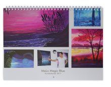 MaLo Kunstkalender 2017 - das Original!  Jetzt zum Sparpreis bestellen: malo-magic-blue.com Flyer, Mario, Polaroid Film, Tapestry, Painting, Signage, Wall Calendars, Business Cards, Hanging Tapestry