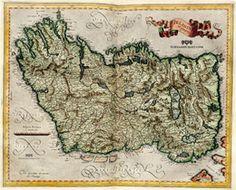 Map of Ireland 1596.