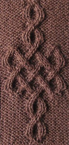 Ravelry: Celtic Motif (knot #243) pattern by Devorgilla's Knitting (sometimes...) - http://www.ravelry.com/patterns/library/celtic-motif-knot-243