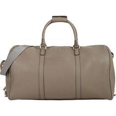 "Serapian Men's Cachemire 21\"" Duffel (€650) ❤ liked on Polyvore featuring men's fashion, men's bags, grey, mens leather duffel bag, mens leather bags, mens bags, mens duffle bags and men's duffel bags"
