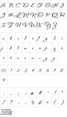 UTM Aquarelle font character map