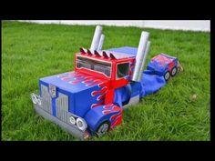 Optimus Prime Transformers Cardboard Costume : Autobot to Semi-Truck - YouTube