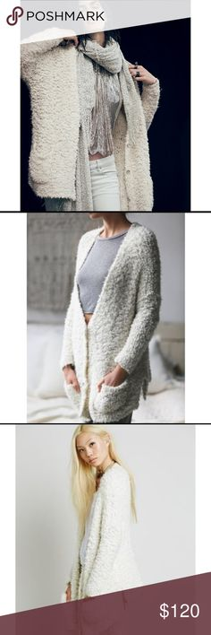 Free People Marshmallow cardigan BNWOT, never worn. Super soft & cozy Free People Sweaters Cardigans