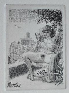 Mark.F.Severin ex-libris eroticis