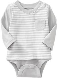 2-in-1 V-Neck Tee Bodysuits for Baby