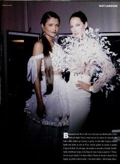 L'OFFICIEL DE LA MODE n°778 de 1993 Ph: Jonathan Lennard Haute Couture 1993 collections backstage report