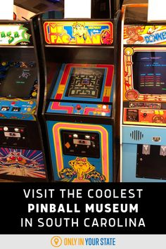 Enjoy a fun, family-friendly to one of the best - and coolest - museums in South Carolina. Learn AND play games when you visit. Vintage Video Games, Vintage Videos, Vintage Games, All Games, Games To Play, South Carolina Attractions, Best Bucket List, Hidden Beach, Play To Learn