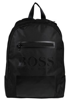 """BOSS Kidswear. Rucksack - black . Pattern:Print. Fastening:Zip. Compartments:laptop compartment. length:15.5 """" (Size One Size). width:4.5 """" (Size One Size). Lining:textile. carrying handle:3.5 """" (Size One Size). Outer material:poly..."""