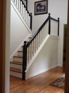 Black+handrail+on+stairway+New+England+Fine+Living.
