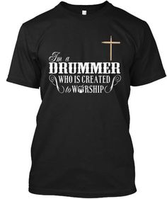 141dcc54c Team Shirts, Band Shirts, Vinyl Shirts, Drummer T Shirts, Drummer Boy, Drums  Quotes, Musician Gifts, Worship God, Drumline