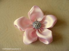 HOW TO MAKE A SMALL RIBBON FLOWER - Google Search