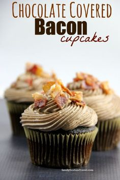 Bacon and Chocolate Cupcake Recipe- HCF Recipe of the Week