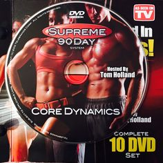 """CORE DYNAMICS.  **Supreme 90Day System, """"Get Ripped in 90Days!"""" Workout Calendar, Get Ripped, Dvd Set, Nutrition Guide, See On Tv, Supreme, Core, Day, Boot Camp"""