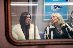 Anne Hathaway, Helena Bonham Carter, Sandra Bullock, Rihanna, Mindy Kaling, Cate Blanchett, Sarah Paulson and Awkwafina film scenes in the subway for 'Oceans 8' in New York City