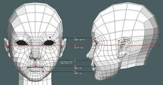 「animation friendly topology low poly」の画像検索結果