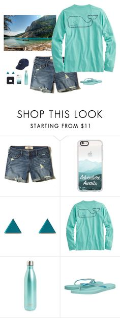 """""""Adventure awaits ⛰"""" by rls234 ❤ liked on Polyvore featuring Hollister Co., Casetify, Wolf & Moon, S'well, Havaianas and Vineyard Vines"""