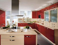 Modern Kitchen Red delonghi distinta eci341.w coffee machine   red kitchen, kitchen