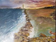 St. Mary's Lighthouse, Whitley Bay, UK Four Legged, Our Life, I Love Dogs, Lighthouse, Waves, World, Painting, Outdoor, Art