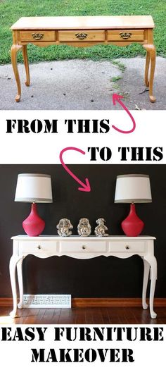 Transform a country style cast off into a chic show stopper with this furniture makeover.