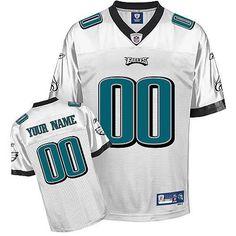 Custom Reebok Philadelphia Eagles White Jersey Eagles Jersey f30331041