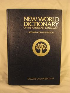 Websters New World Dictionary Collegiate Deluxe Color Edition Tabbed 2nd Edition