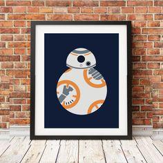 Star Wars BB8 Minimalist Print by JosephPrints on Etsy
