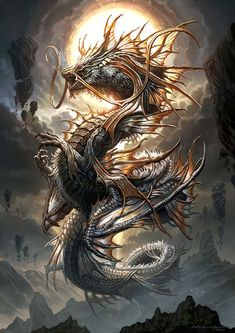 Drachen - Drachen You are in the right place about Drachen Tattoo Design And Style Galleries On The Net – Ar - Dark Fantasy Art, Fantasy Artwork, Mythical Creatures Art, Fantasy Creatures, Dragon Artwork, Dragon Drawings, Dragon Pictures, Japanese Dragon, Chinese Dragon Drawing