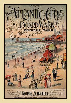 Atlantic City Boardwalk 1890's Reproduction by BuzzysAntiqueNChic