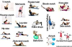 Ab exercises, I needed this, cuz I've been wondering what I can do... I'm tired of crunches!