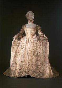 Dress, ca 1755, Galleria del Costume