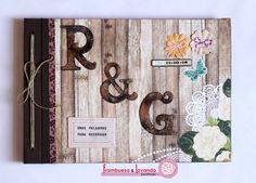 Álbum de firmas para boda. Más en http://frambuesaylavanda.blogspot.com.es/2014/10/bodas-muy-especiales.html