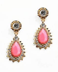 Coral Drop Earrings, Statement Earrings by Shamelessly Sparkly $10.90