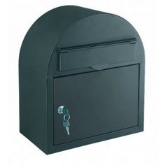 The HDM-130 is a Large Black Rounded Letterbox