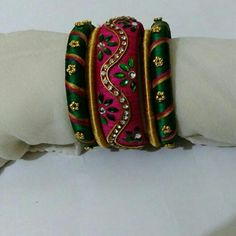 Silk thread bangles .. Orders undertaken.. Colours can be customized.. To order whatsapp 8790245879