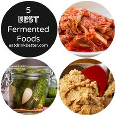 Fermented foods are getting a lot of cred lately as superfoods. Here's a list of fermented foods along with some ideas for how to eat more of them. Best Probiotic Foods, Fermented Foods, Kombucha, Whole Food Recipes, Healthy Recipes, Healthy Meals, Healthy Food, Sustainable Food, Get Healthy